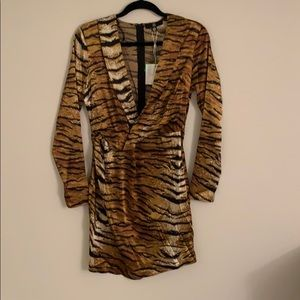 Tiger print silly misguided mini dress